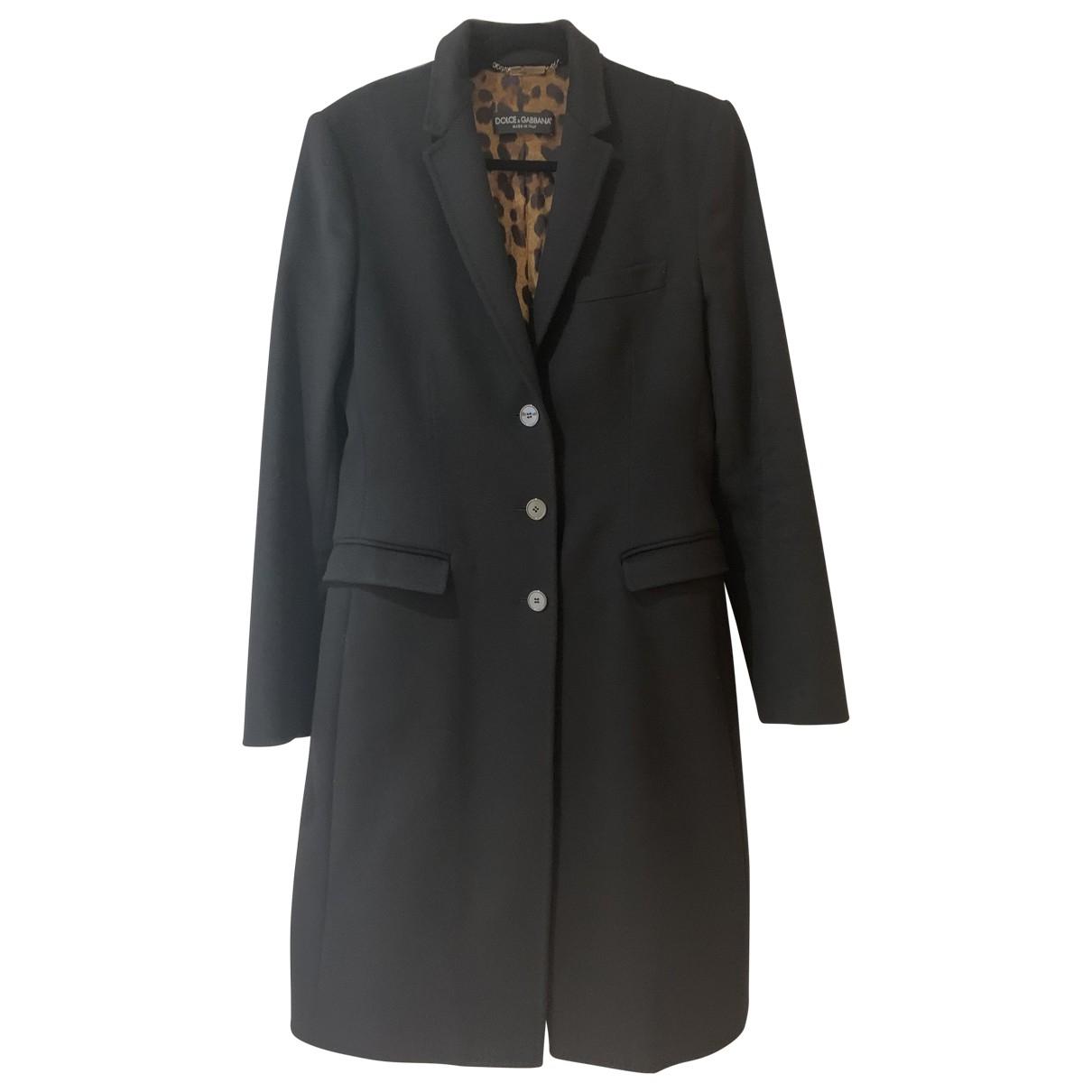 Dolce & Gabbana - Manteau   pour femme en cachemire - noir