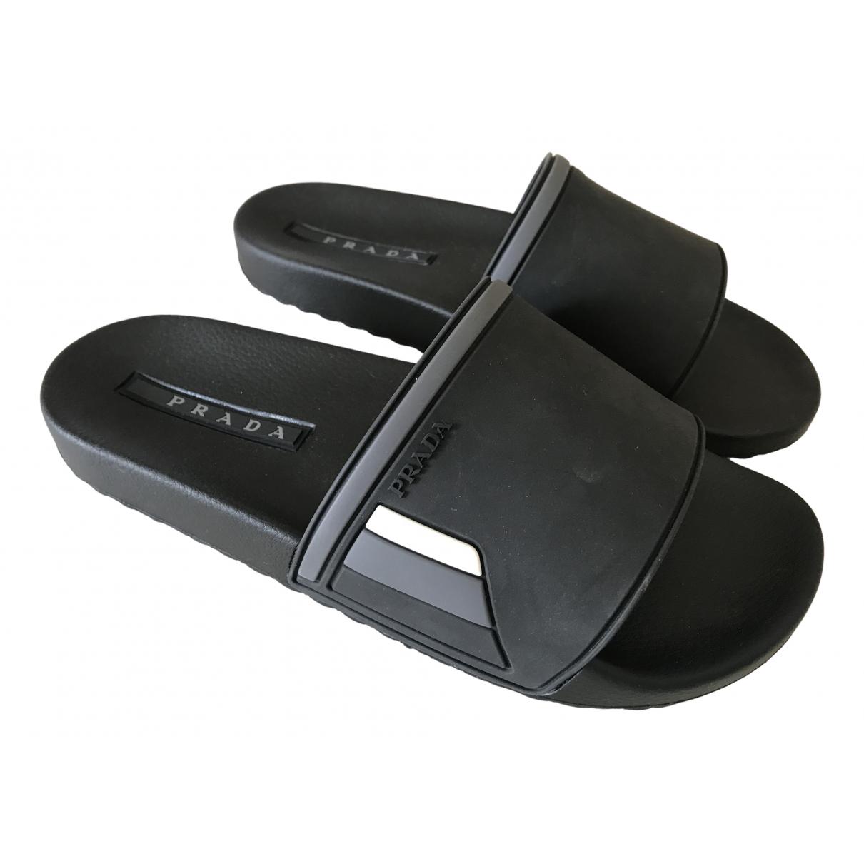Prada \N Black Rubber Sandals for Men 7 UK