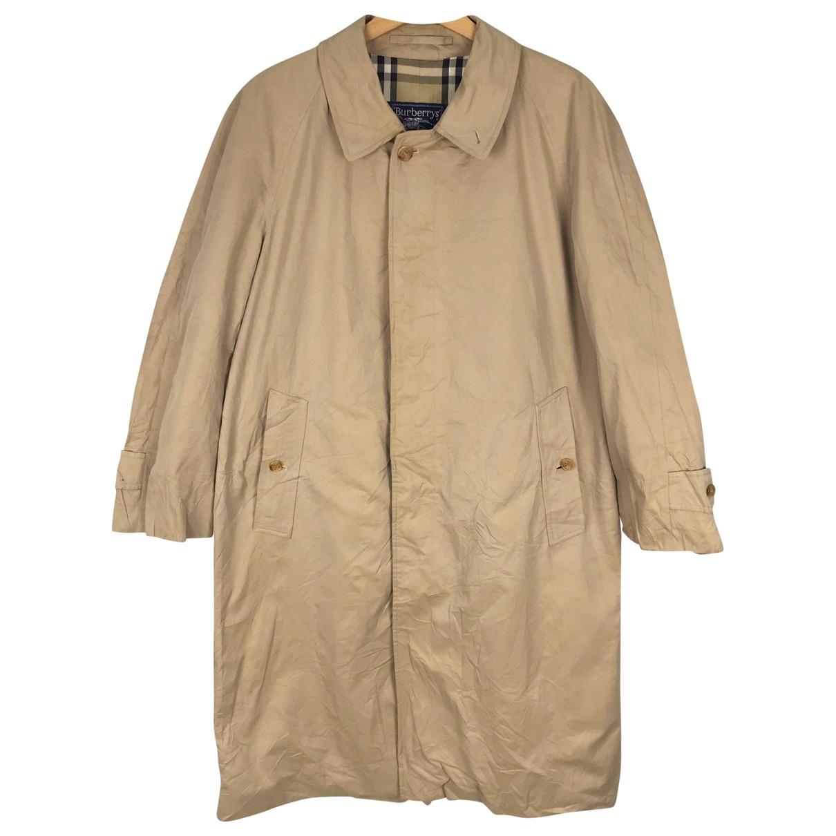 Burberry - Manteau   pour homme en coton - marron