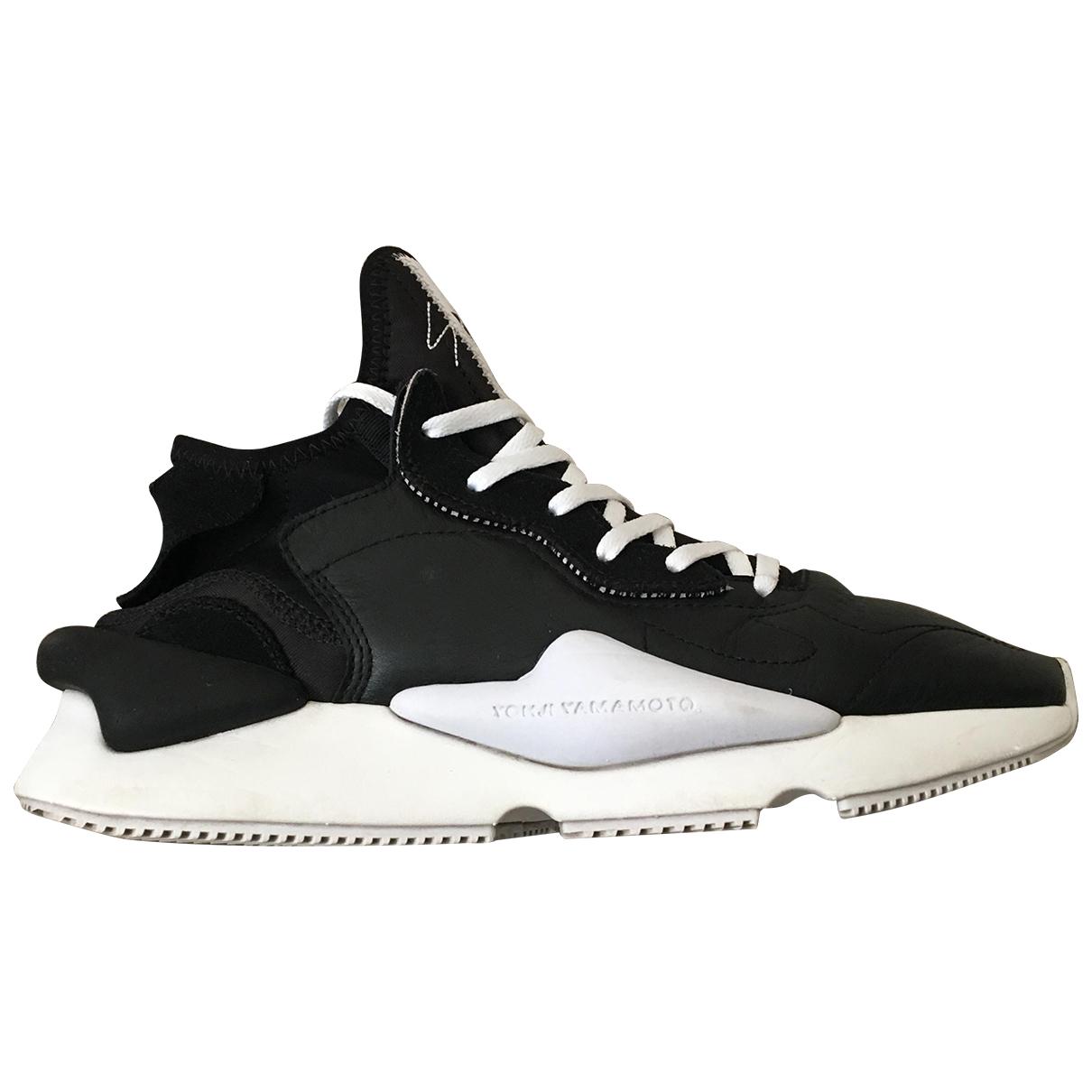 Y-3 - Baskets   pour homme en cuir - noir