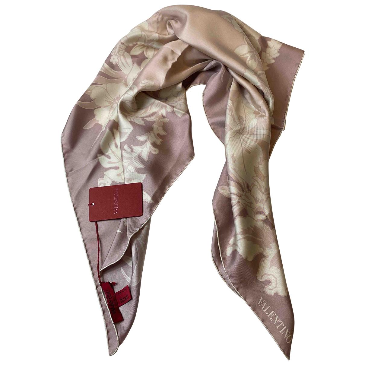 Valentino Garavani - Foulard   pour femme en soie - rose