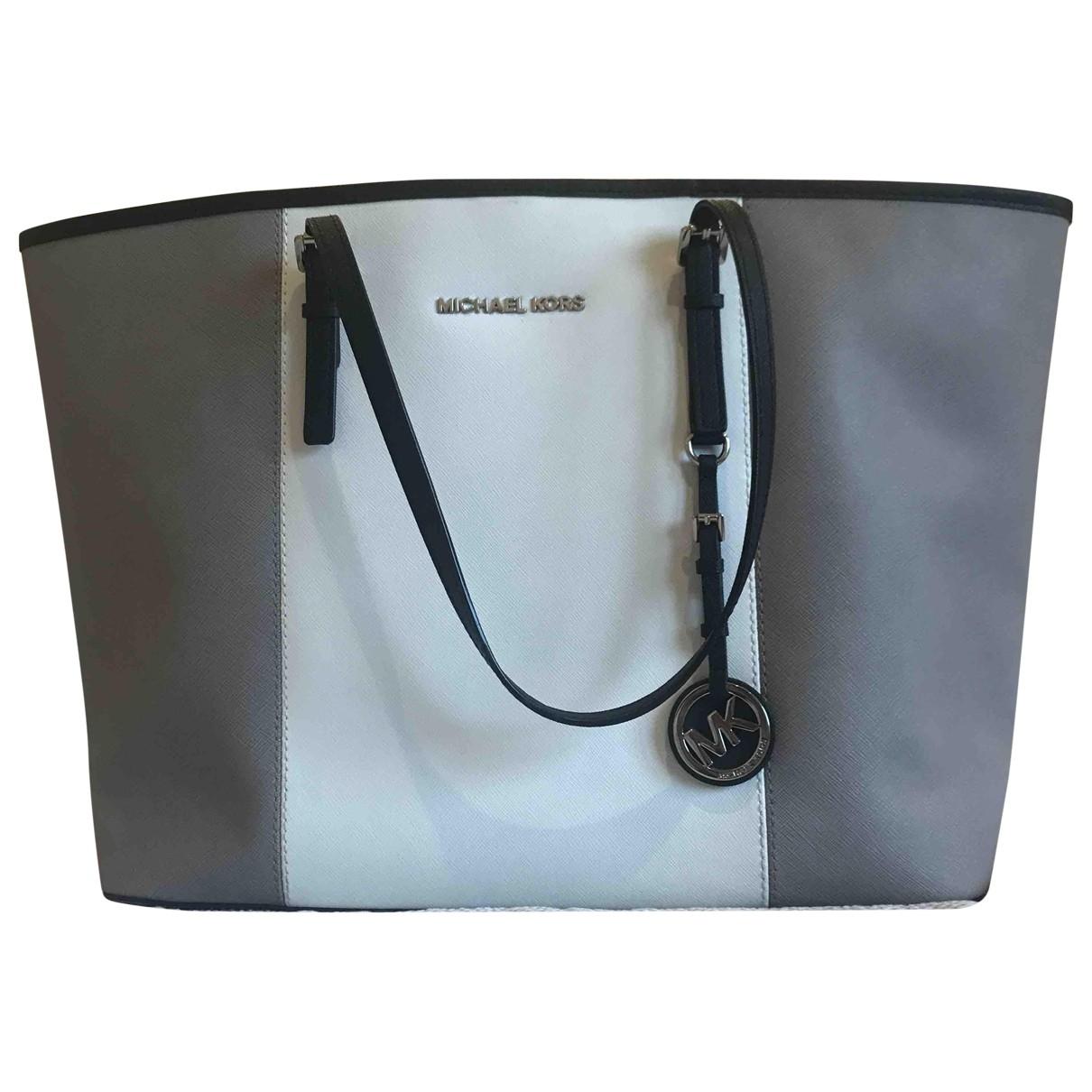 Michael Kors - Sac a main Jet Set pour femme en cuir - gris