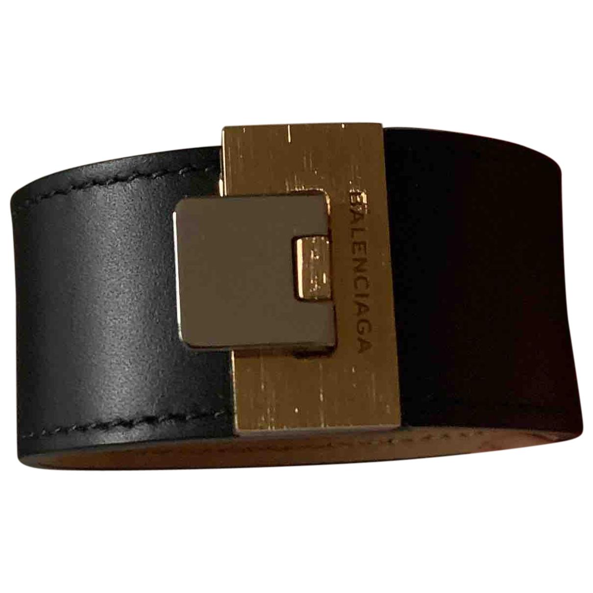 Balenciaga - Bracelet   pour femme en cuir - noir
