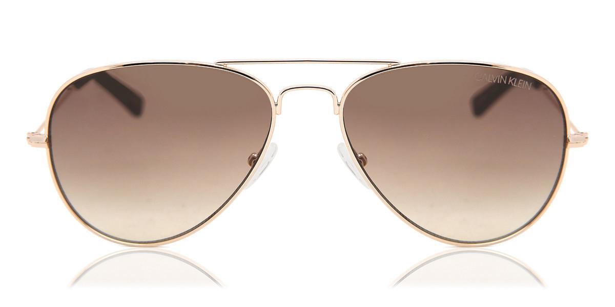 Calvin Klein CK19134S 717 Women's Sunglasses Gold Size 58