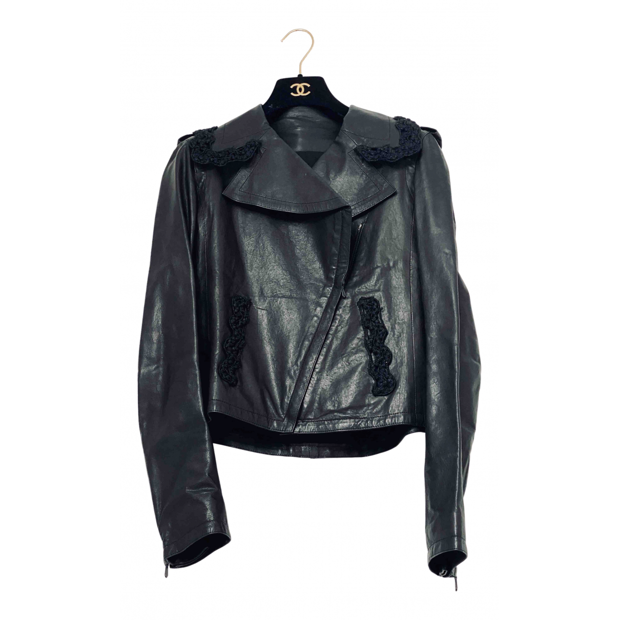 Chanel \N Black Leather jacket for Women 34 FR
