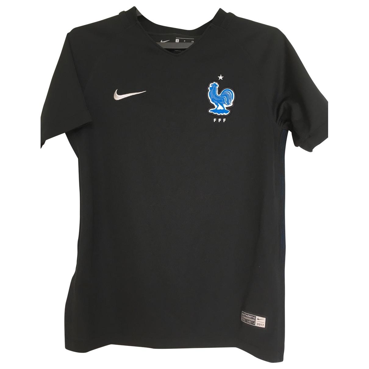 Nike - Top   pour enfant en coton - noir