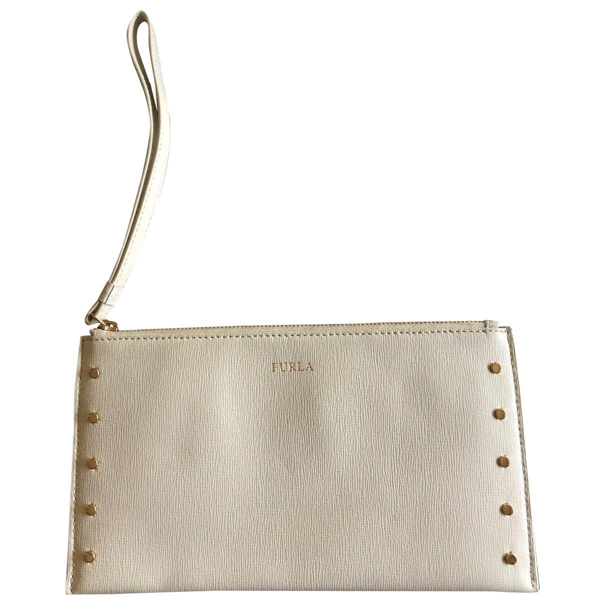 Furla \N White Leather Clutch bag for Women \N