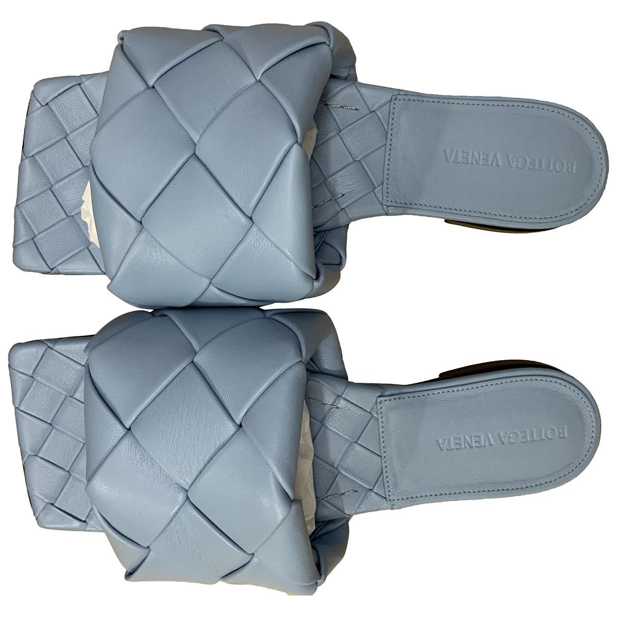 Bottega Veneta - Sandales BV Lido pour femme en cuir - bleu
