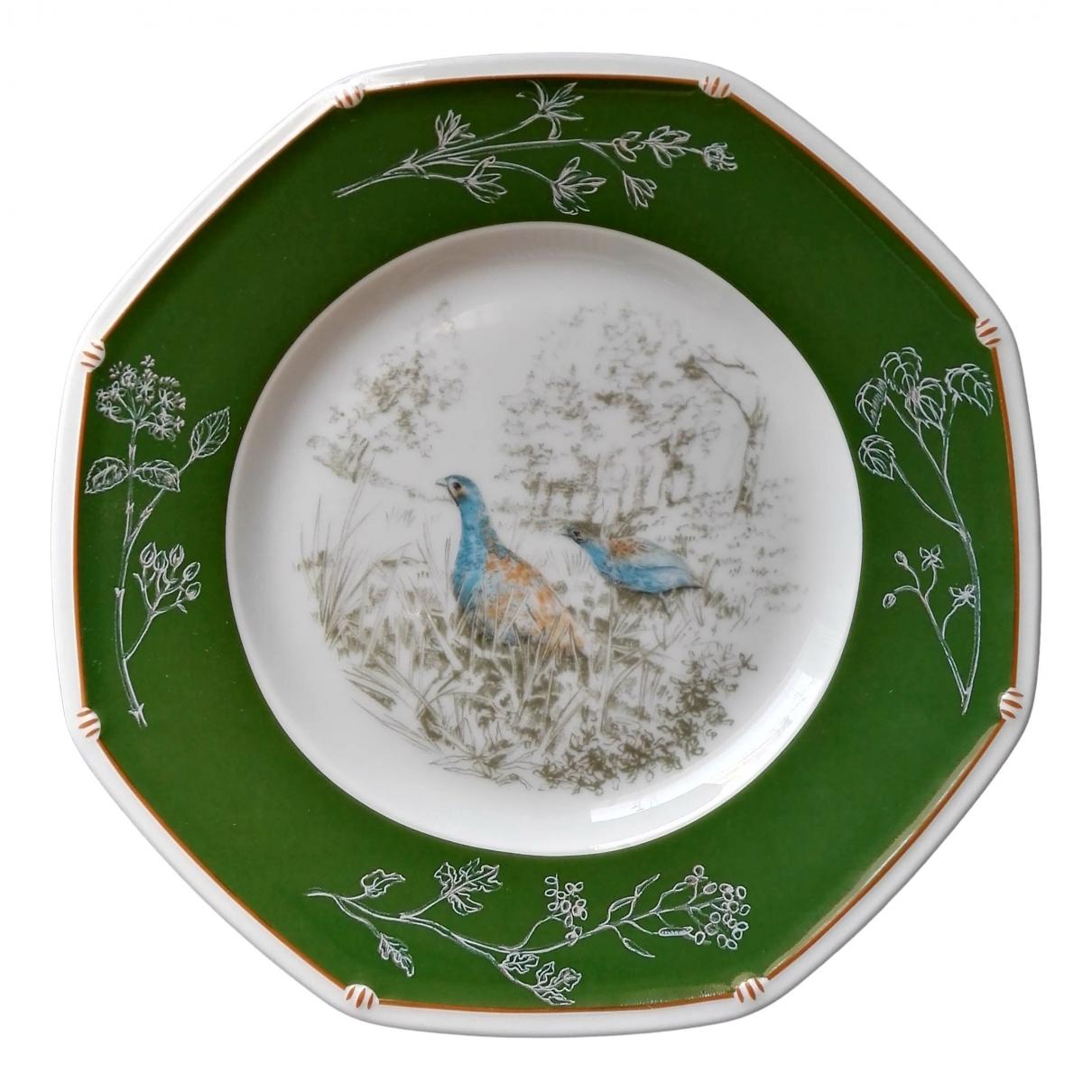 Hermes \N Tischkultur in  Gruen Porzellan