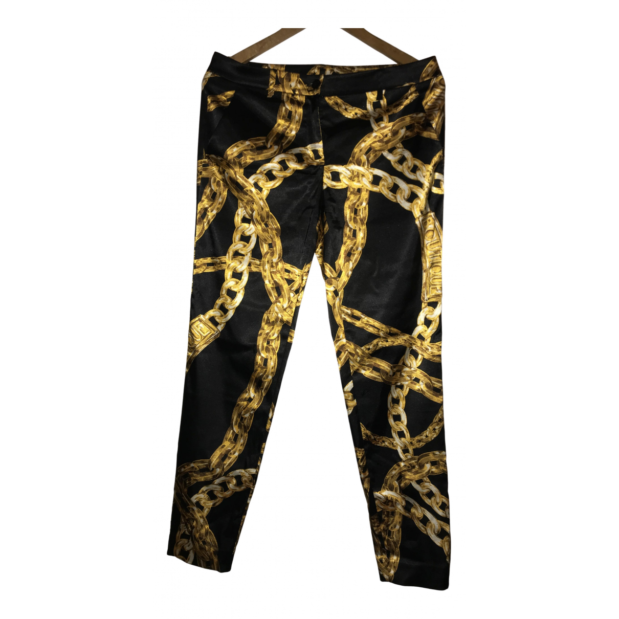 Moschino N Black Trousers for Women 42 IT