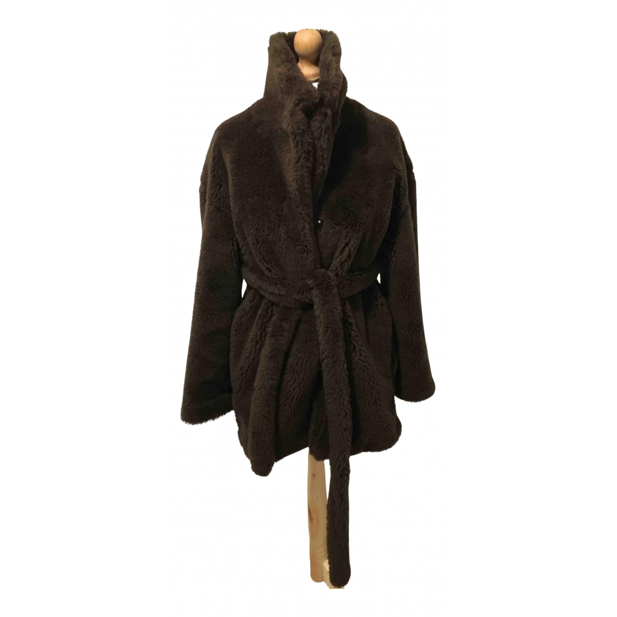 Non Signé / Unsigned N Brown Wool jacket for Women 8 UK