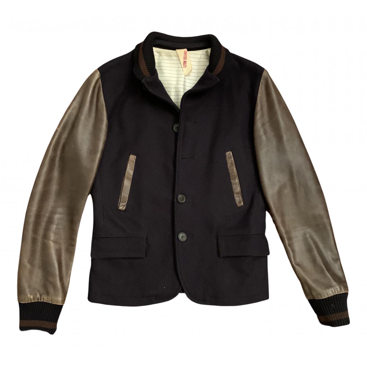 Low Brand - Vestes.Blousons   pour homme en laine - bleu