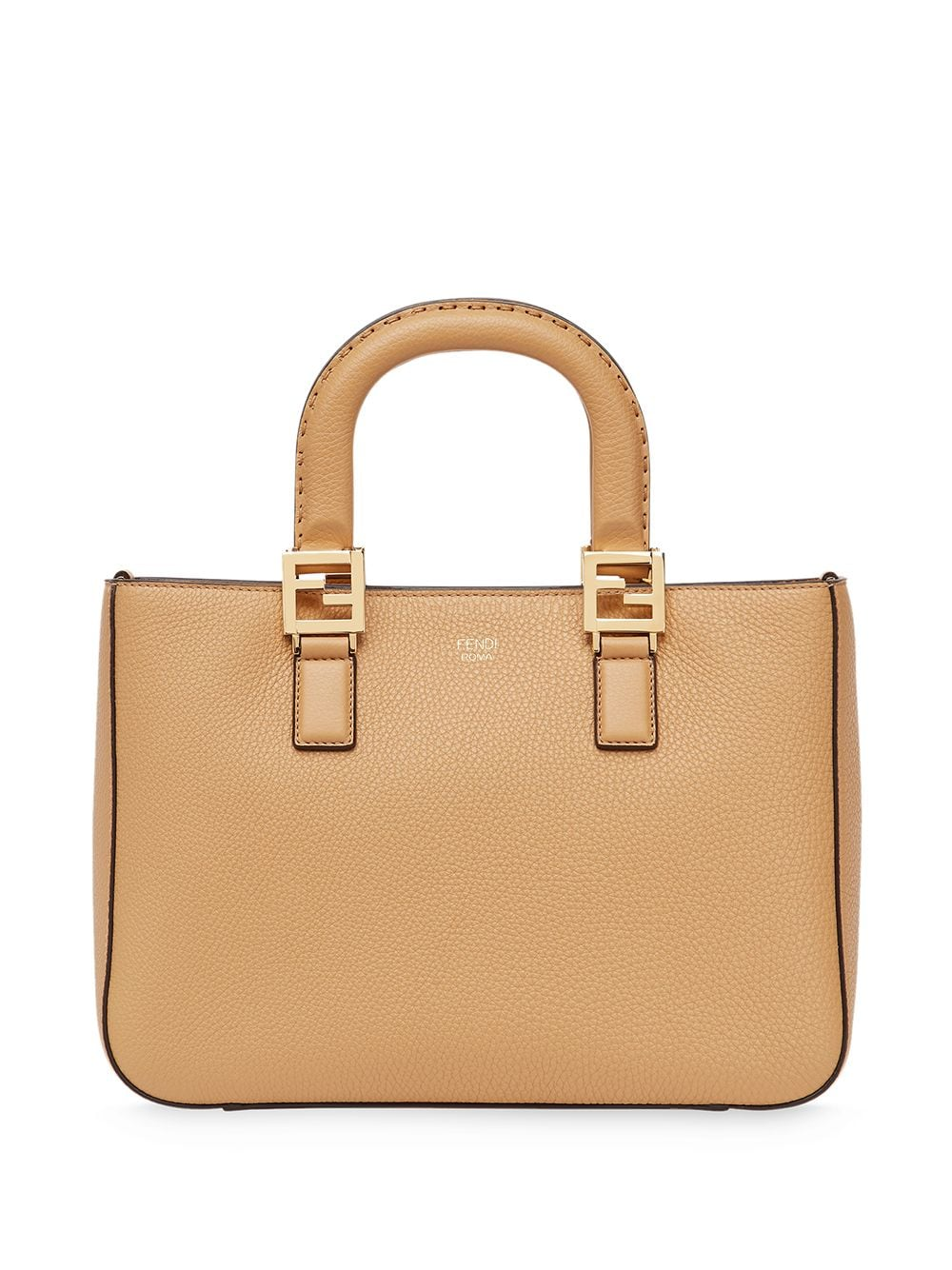 Ff Small Leather Tote Bag