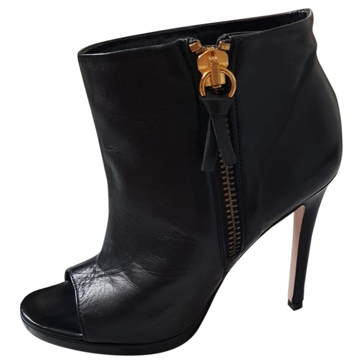 Jucca \N Black Leather Ankle boots for Women 36 EU