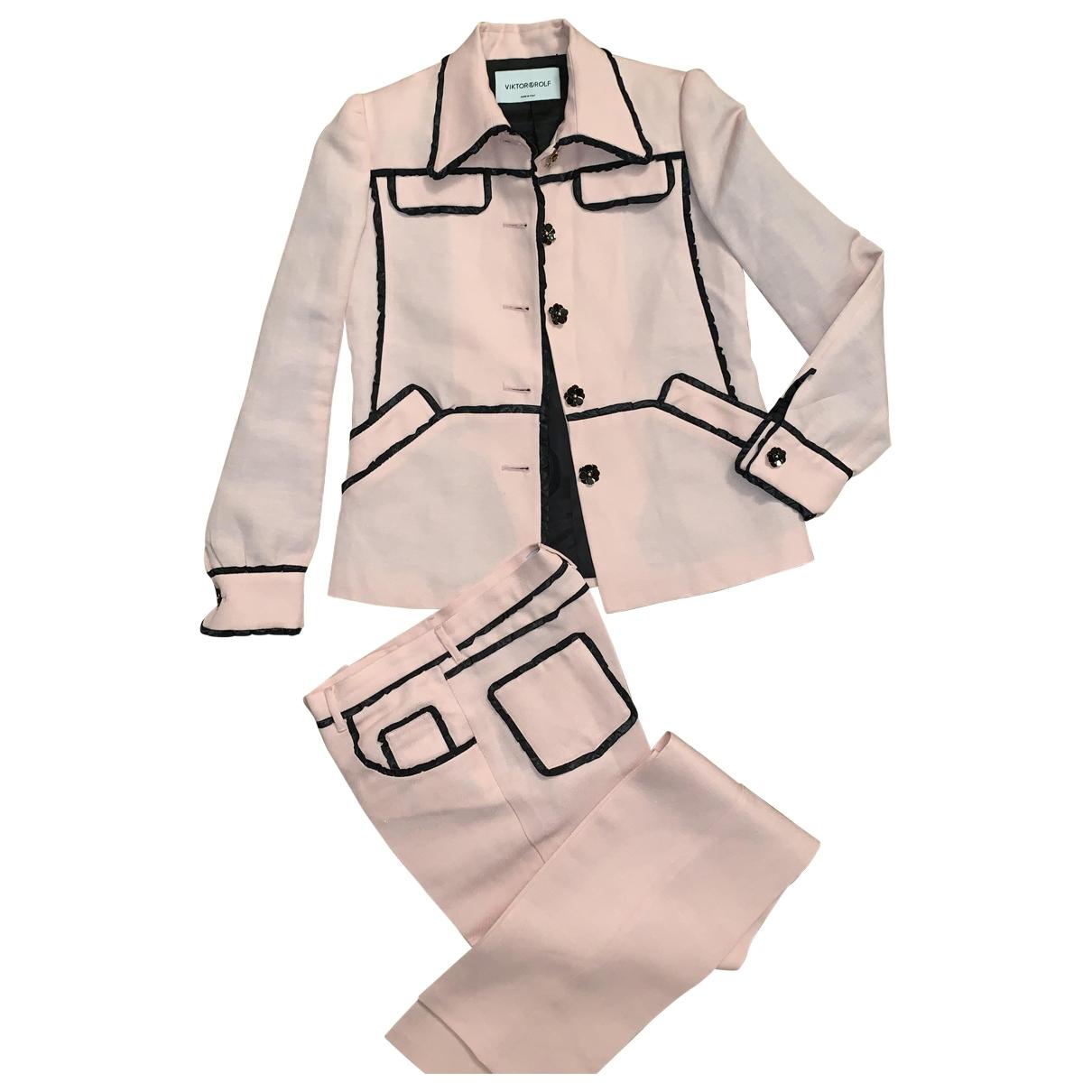 Viktor & Rolf \N Pink Linen jacket for Women 40 FR