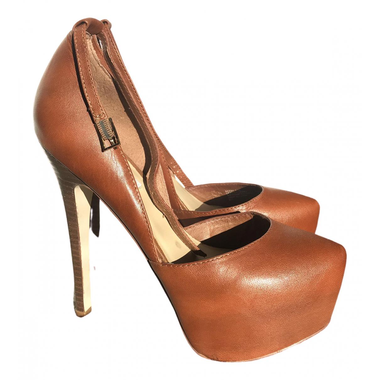 Steve Madden \N Brown Leather Heels for Women 38 EU