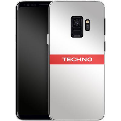 Samsung Galaxy S9 Silikon Handyhuelle - RED LINE von Berlin Techno Collective