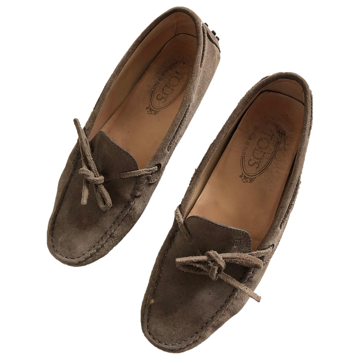 Tod's \N Beige Leather Mules & Clogs for Women 40 EU