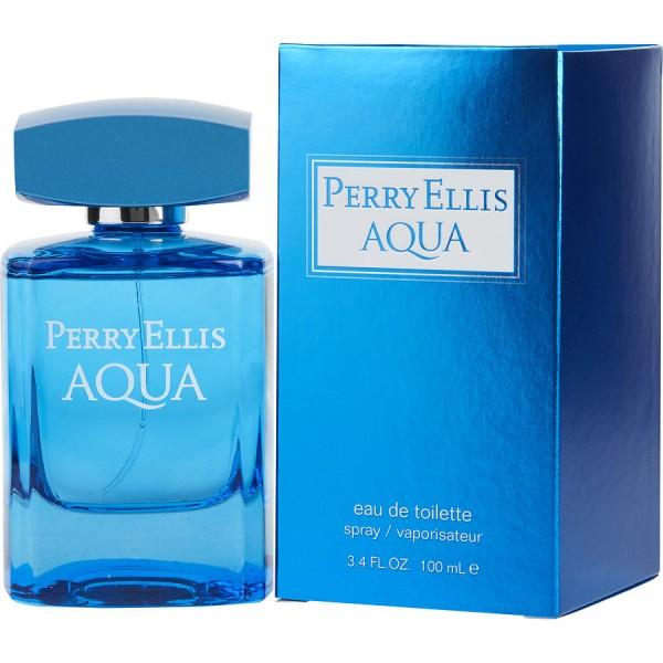 Perry Ellis - Aqua : Eau de Toilette Spray 3.4 Oz / 100 ml