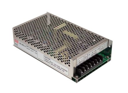 Mean Well 150W Isolated DC-DC Converter Chassis Mount, Voltage in 72 → 144 V dc, Voltage out 24V dc