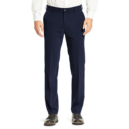 Stafford 365 All-Temp Comfort Dress Pant, 40 30, Blue