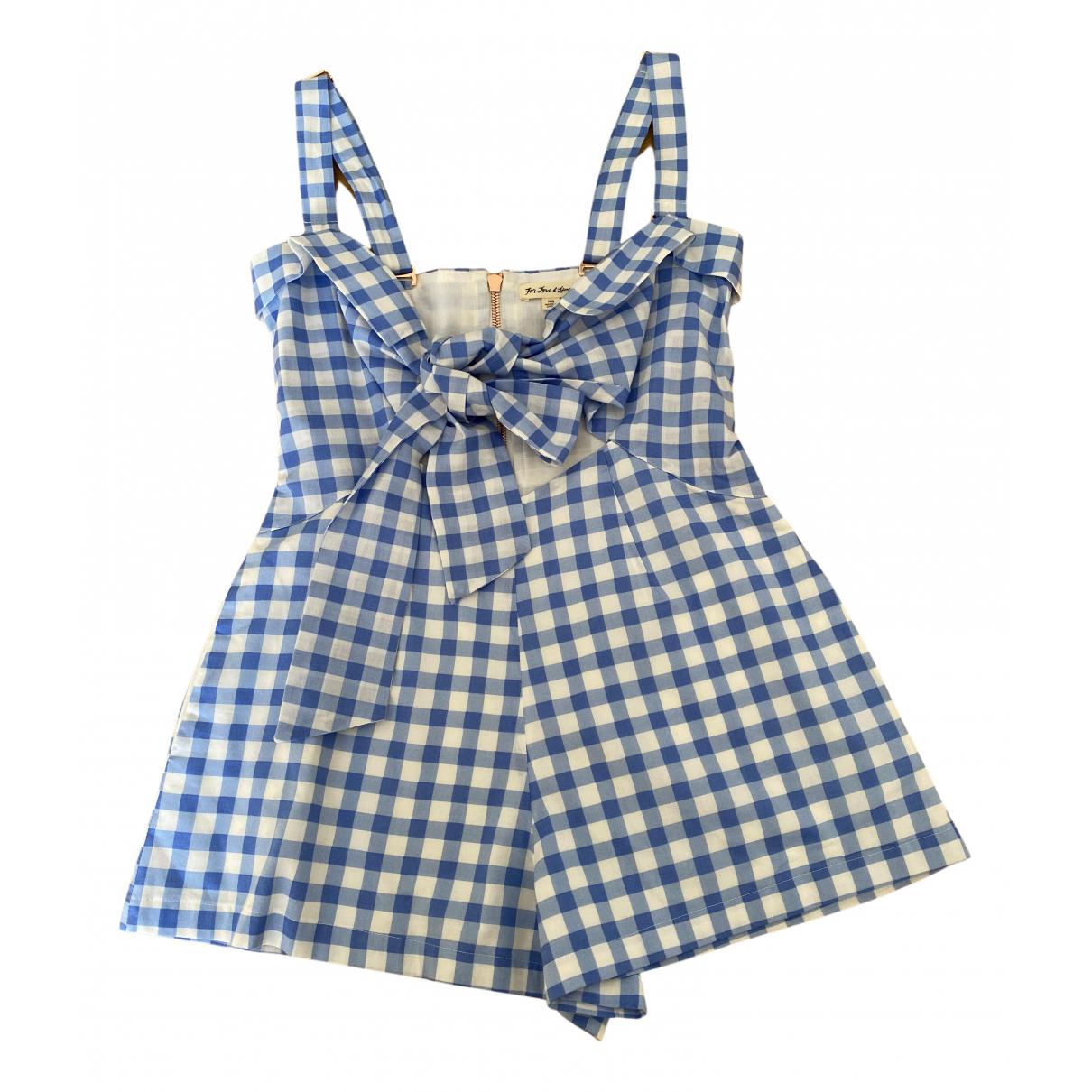 For Love & Lemons - Combinaison   pour femme en coton - bleu
