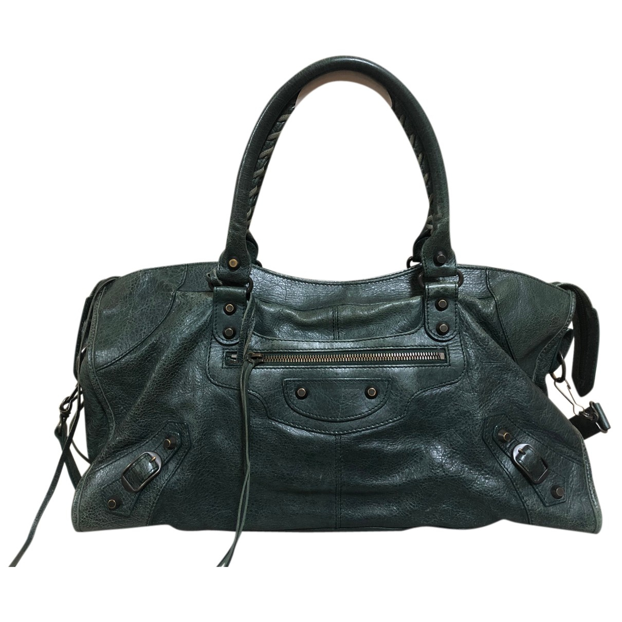 Balenciaga Part Time Green Leather handbag for Women N