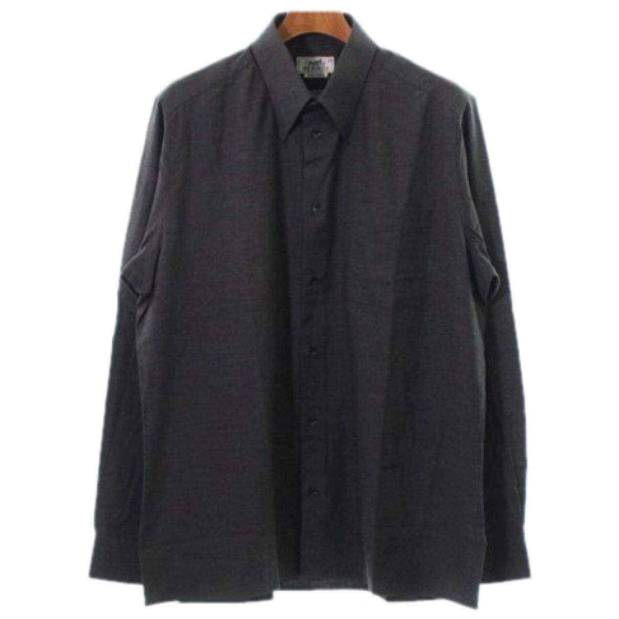 Hermes - Chemises   pour homme en coton - gris