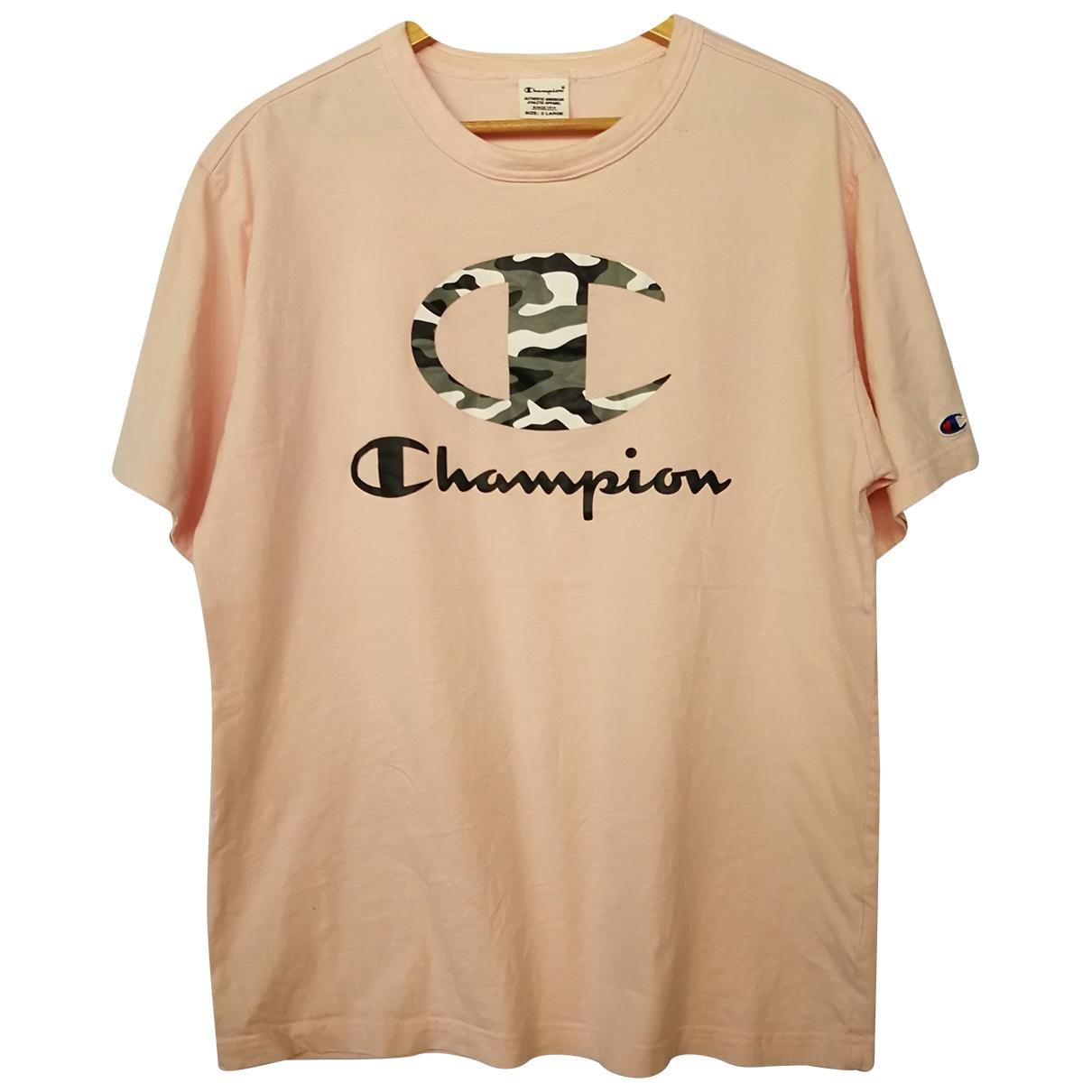 Champion \N Pink Cotton T-shirts for Men L International