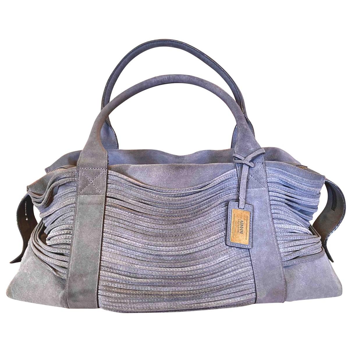 Armani Collezioni \N Grey Suede handbag for Women \N