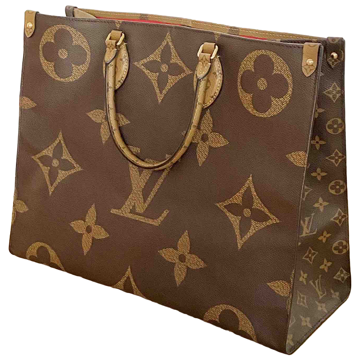 Louis Vuitton Onthego Brown Cloth handbag for Women N