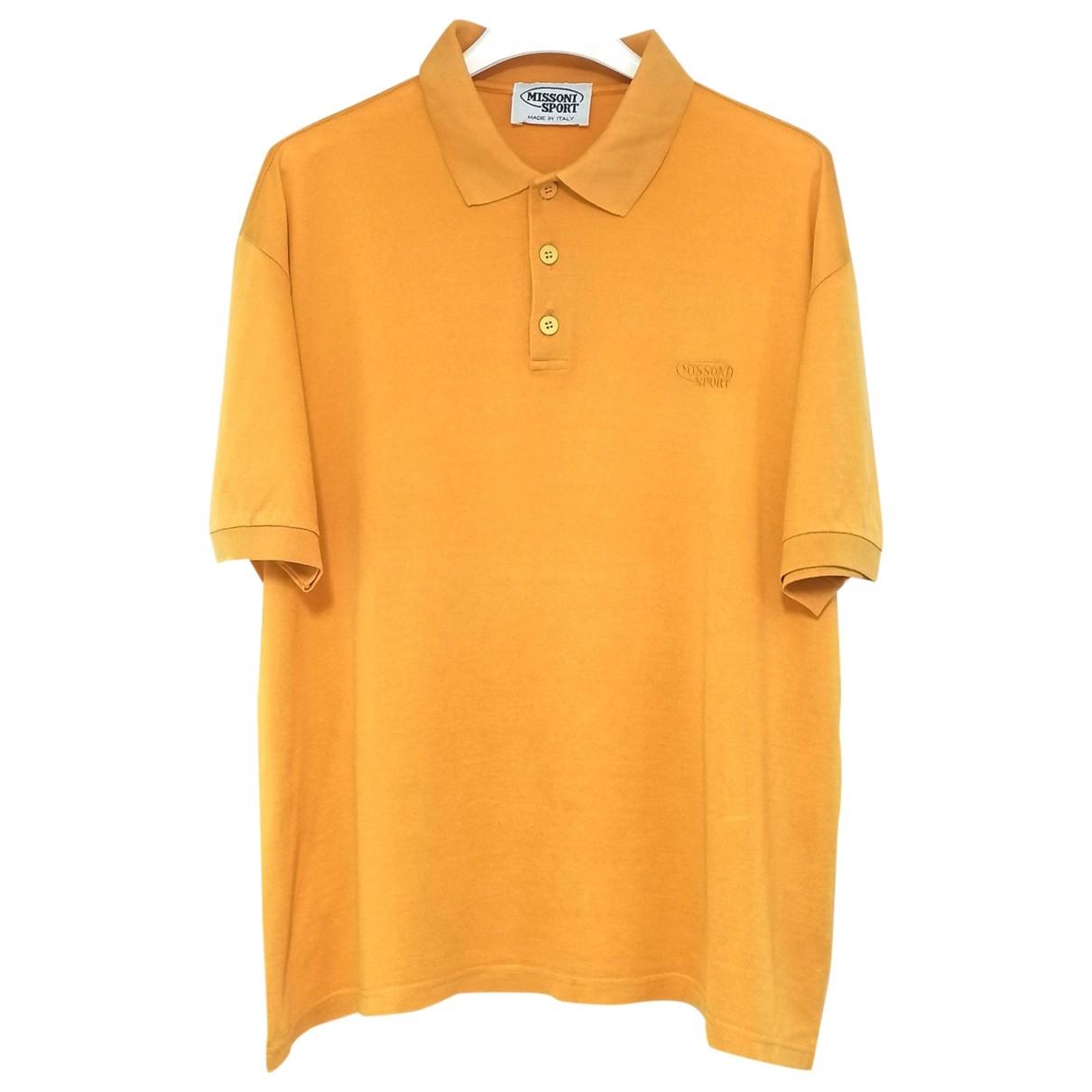 Missoni - Polos   pour homme en coton - jaune