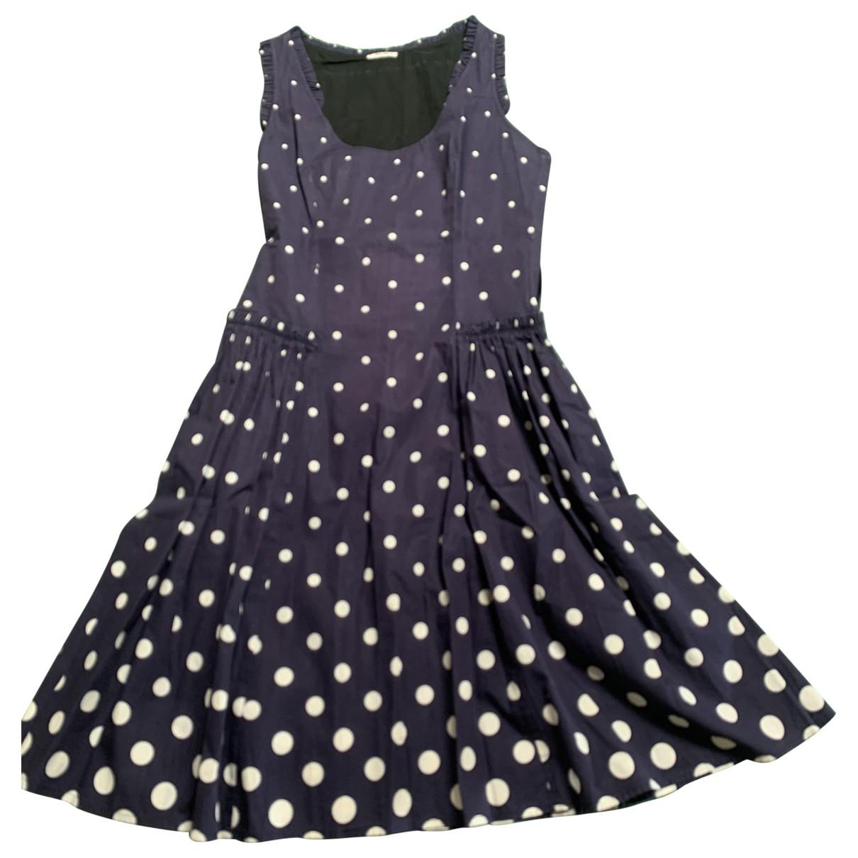 Miu Miu \N Kleid in  Blau Baumwolle