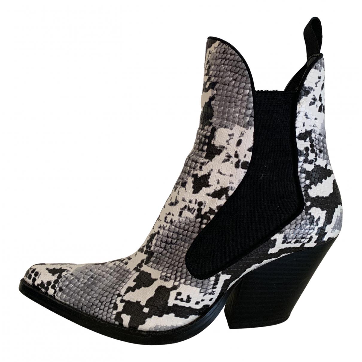 Zara - Bottes   pour femme en cuir - multicolore