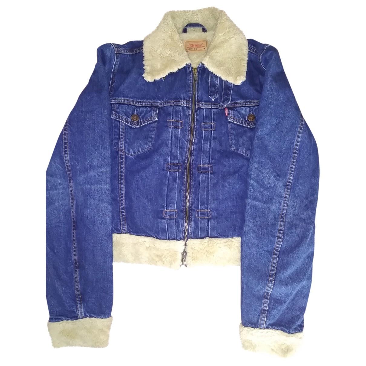 Levis Vintage Clothing \N Lederjacke in  Blau Denim - Jeans