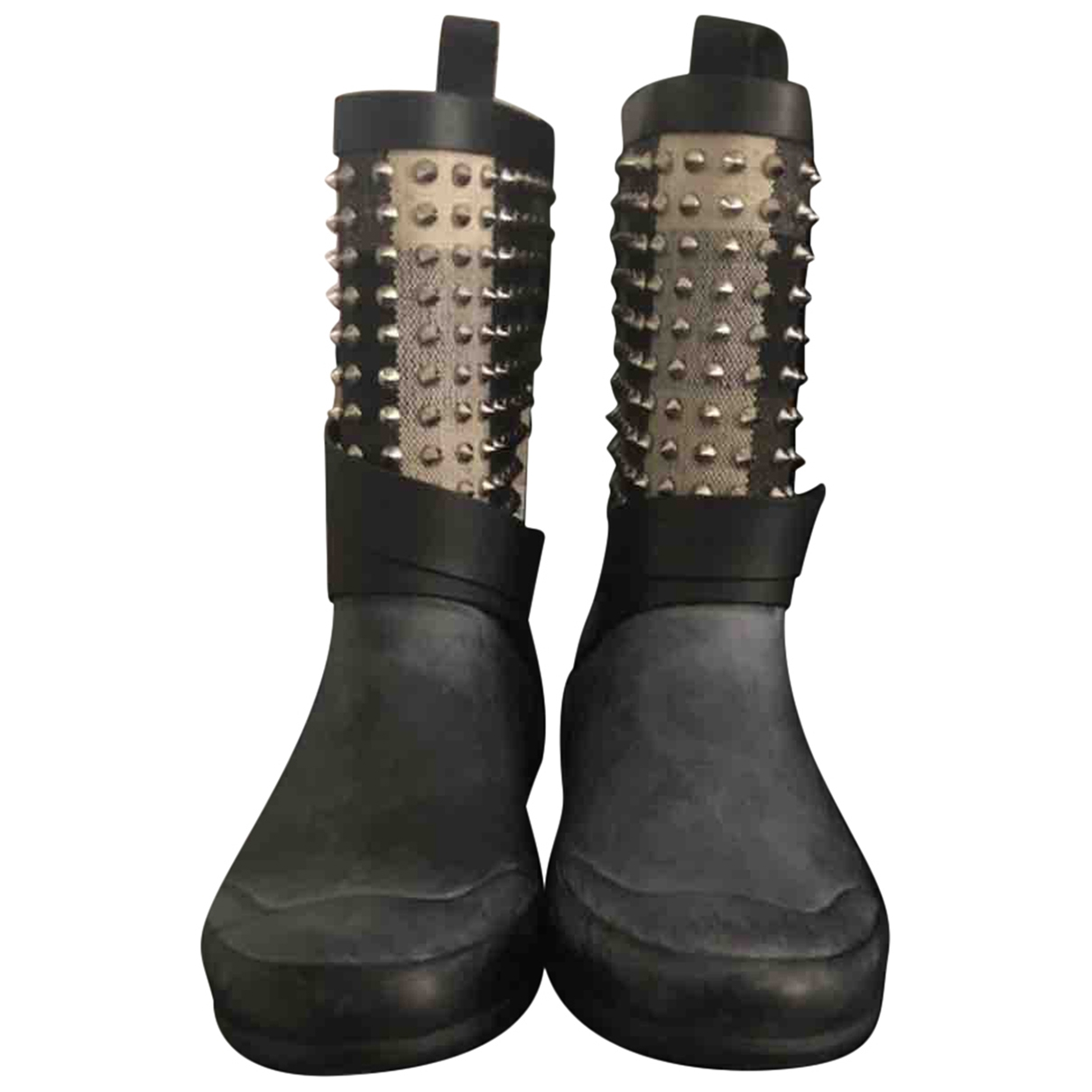 Burberry \N Anthracite Rubber Ankle boots for Women 38 EU