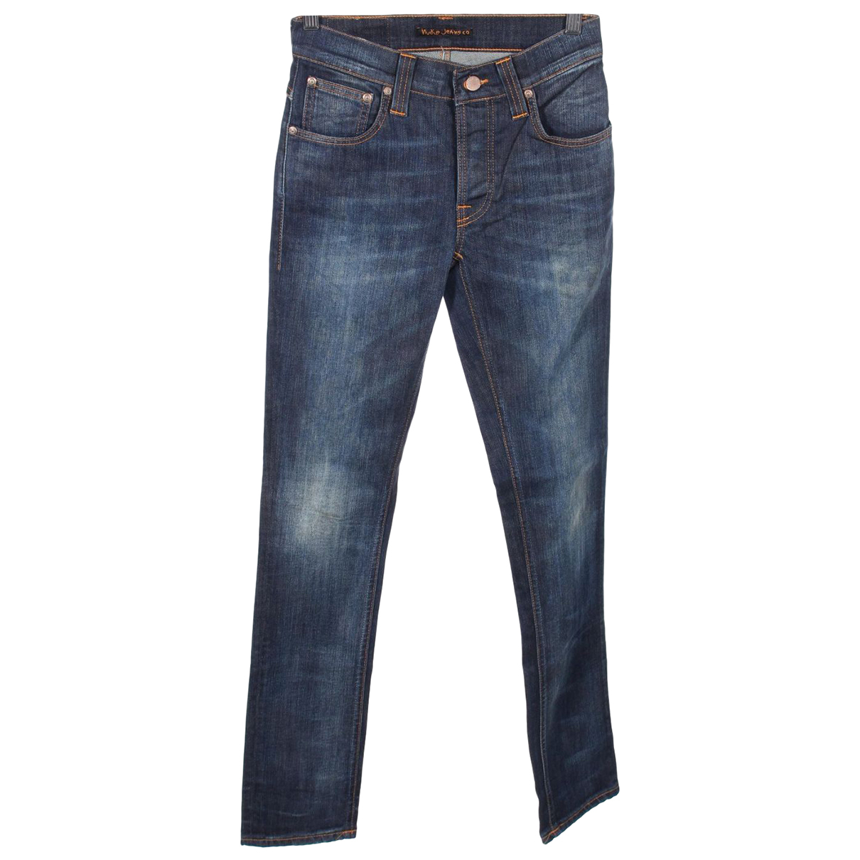Nudie N Blue Cotton - elasthane Jeans for Women 27 US