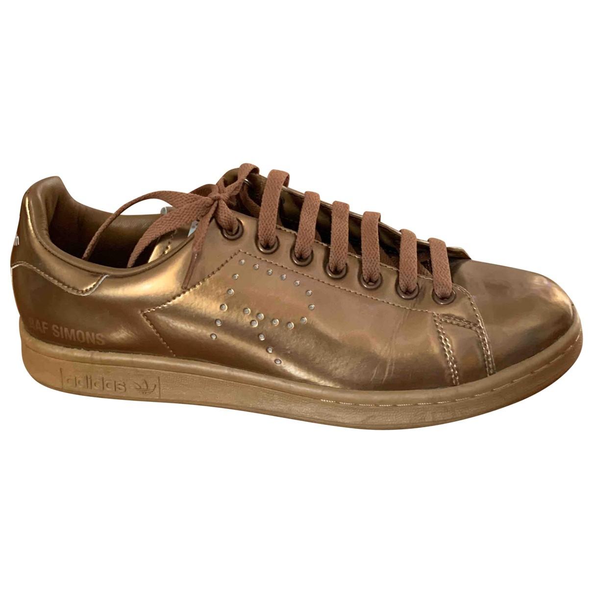 Adidas X Raf Simons - Baskets Stan Smith pour homme en cuir - metallise