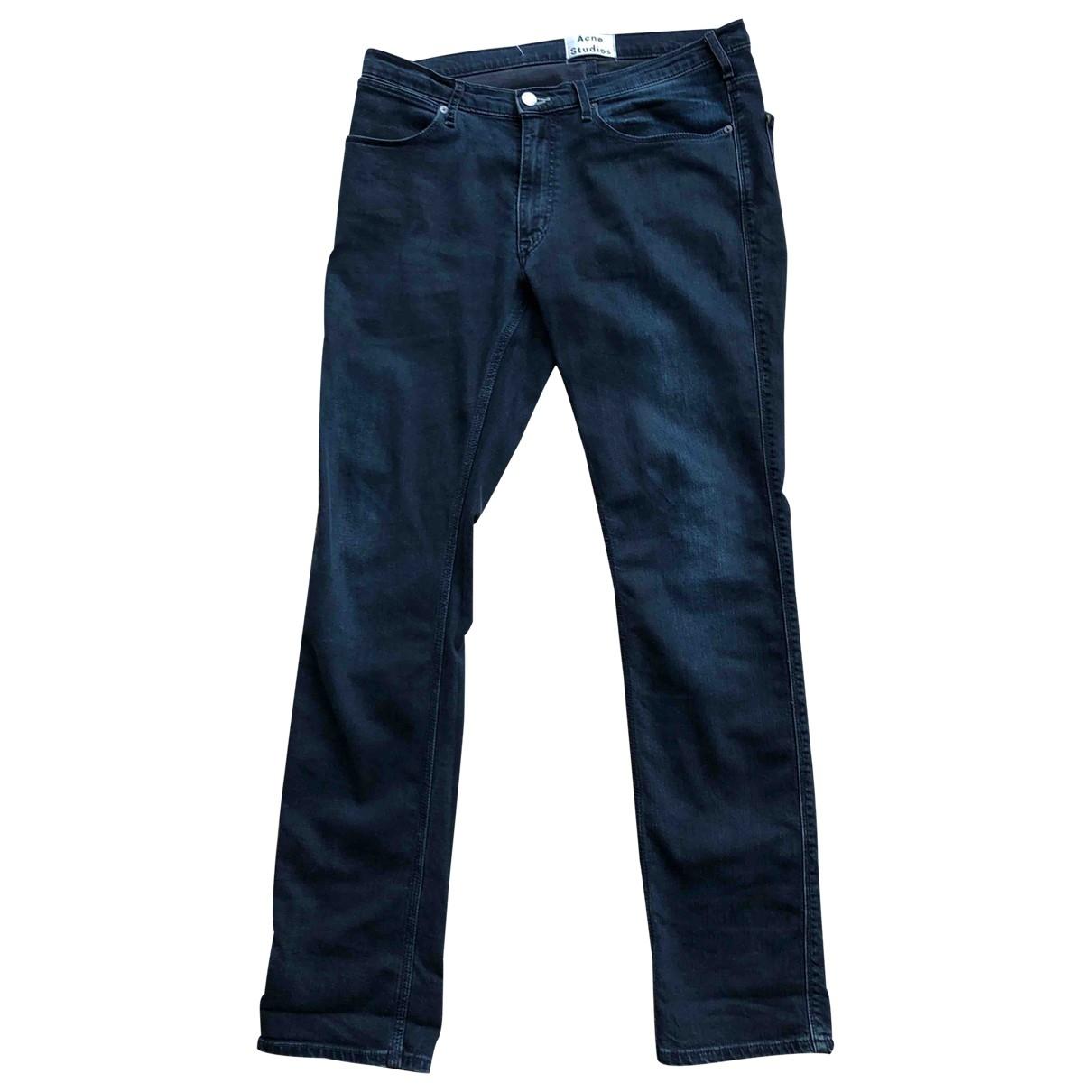 Acne Studios \N Navy Cotton Jeans for Men 34 US