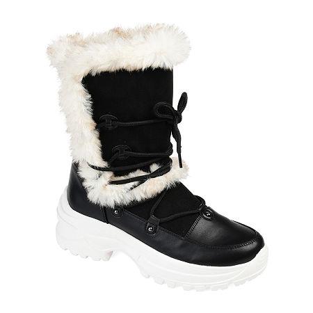 Journee Collection Womens Polar Winter Boots, 9 Medium, Black