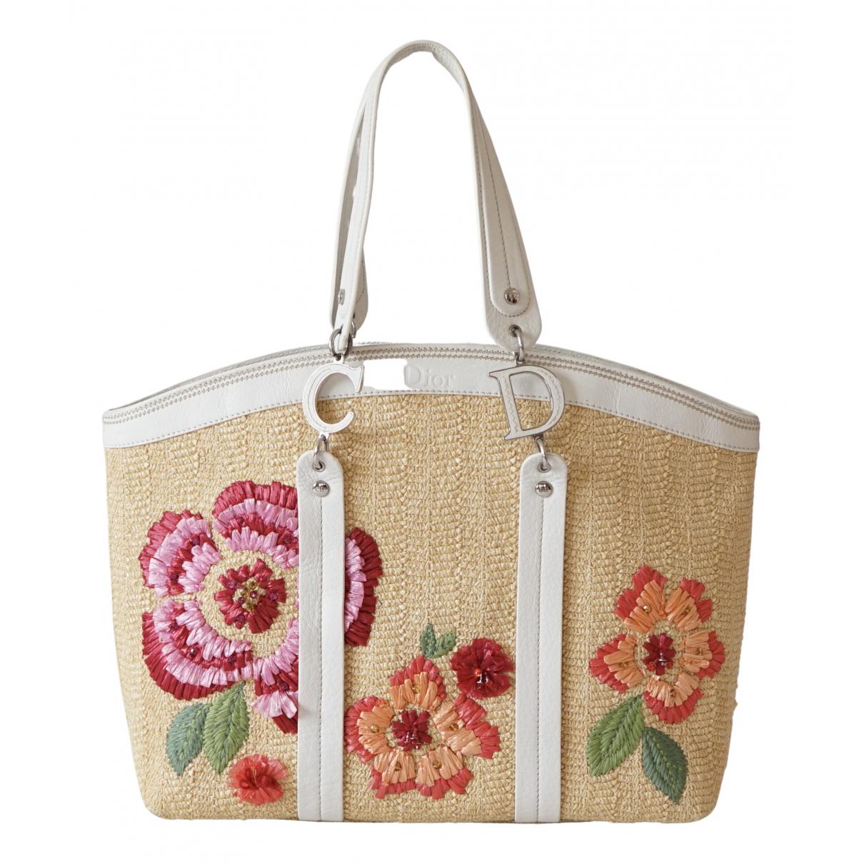 Dior \N Handtasche in  Beige Stroh