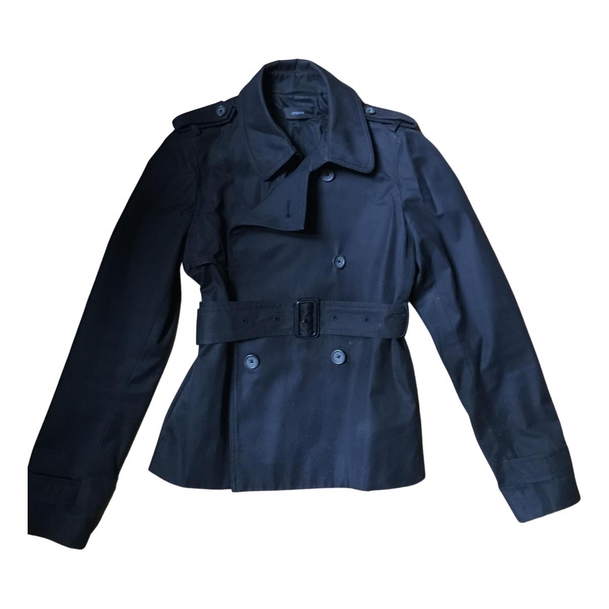 Joseph - Manteau   pour femme en coton - noir