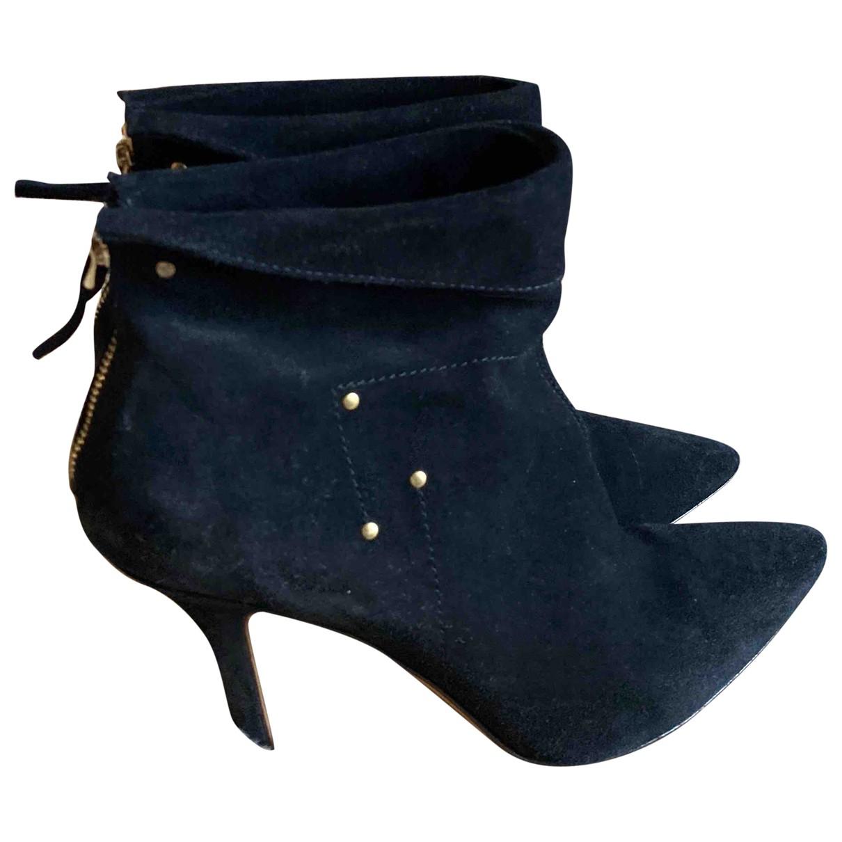 Jerome Dreyfuss - Boots   pour femme en suede - noir