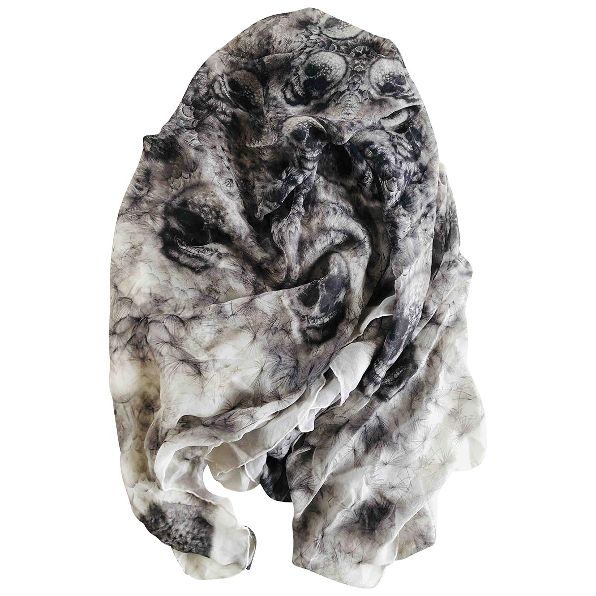 Alexander Mcqueen \N Grey Silk scarf for Women \N