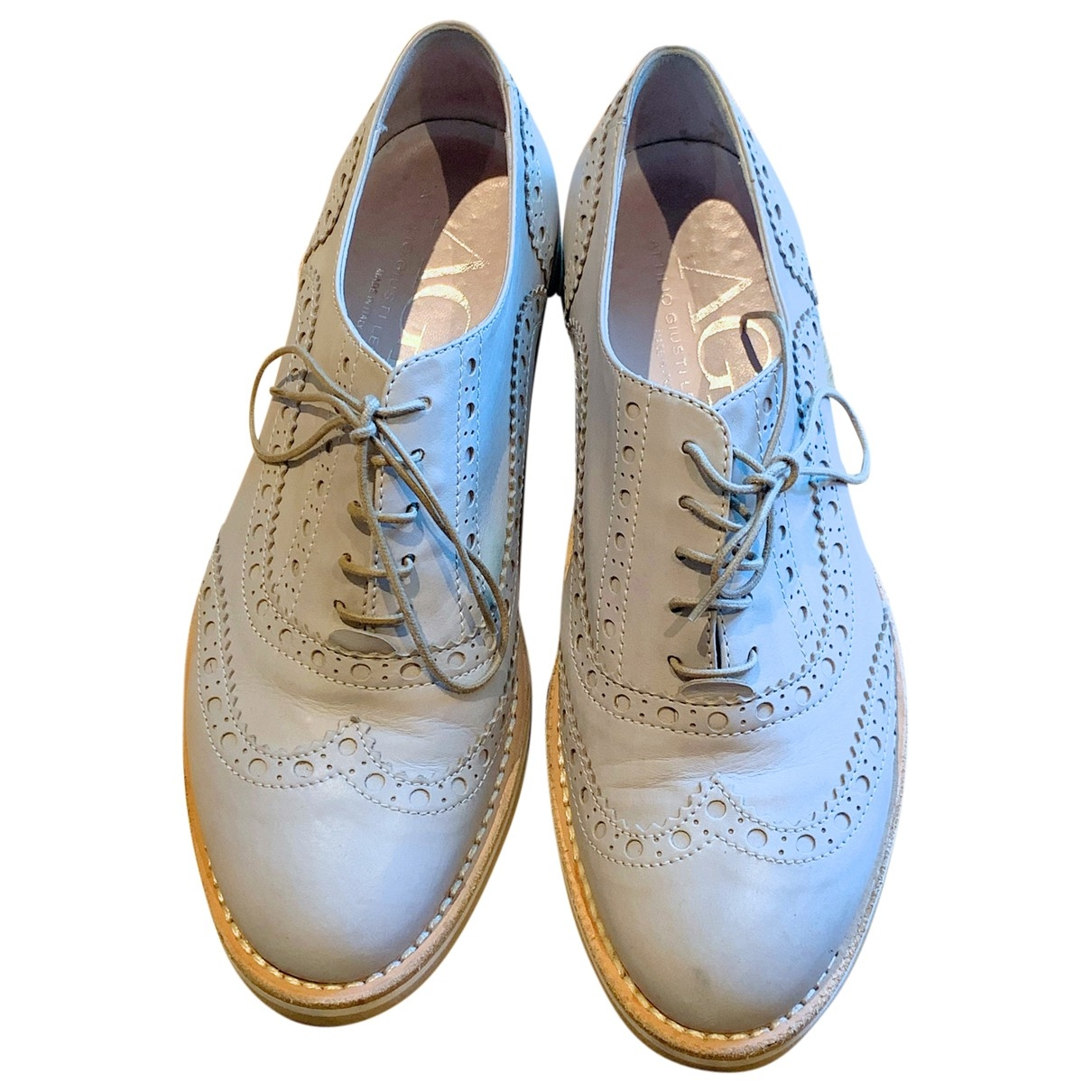 Non Signé / Unsigned \N Grey Leather Lace ups for Women 38 EU
