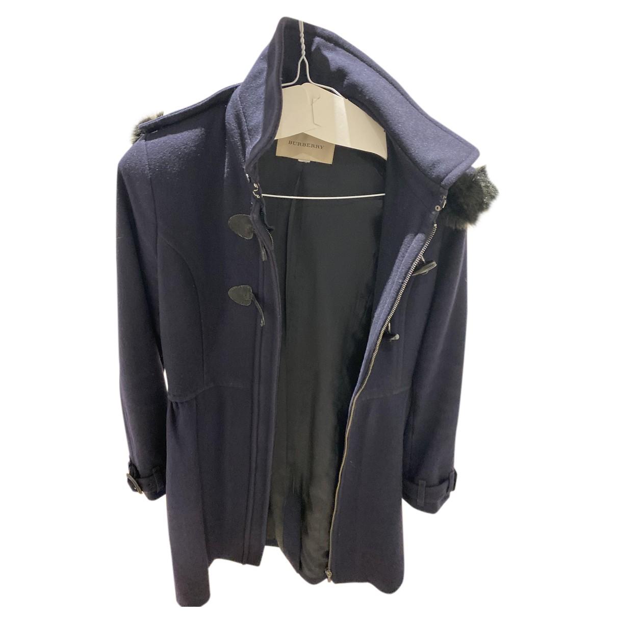 Burberry - Manteau   pour femme en laine - marine