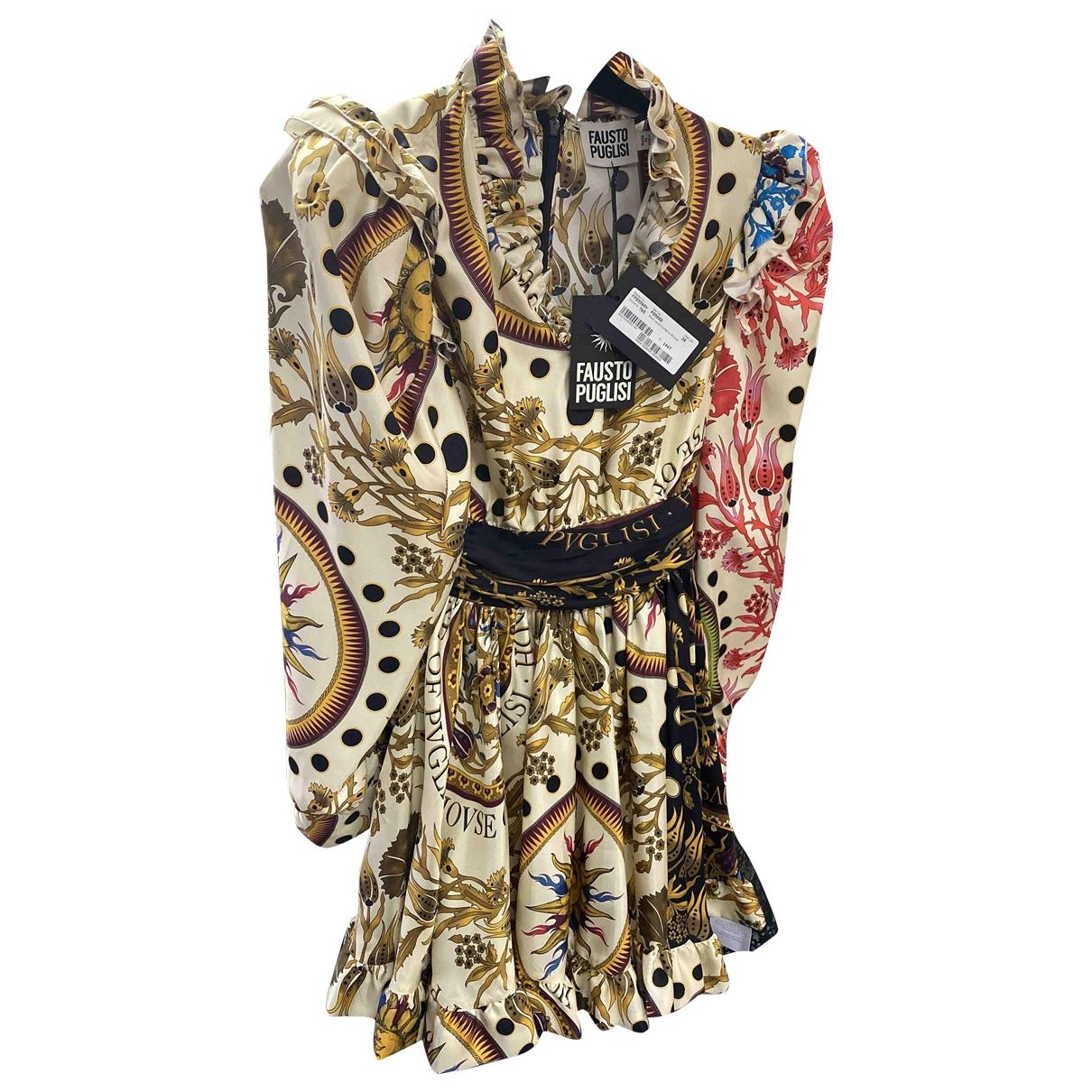 Fausto Puglisi - Robe   pour femme en soie - multicolore