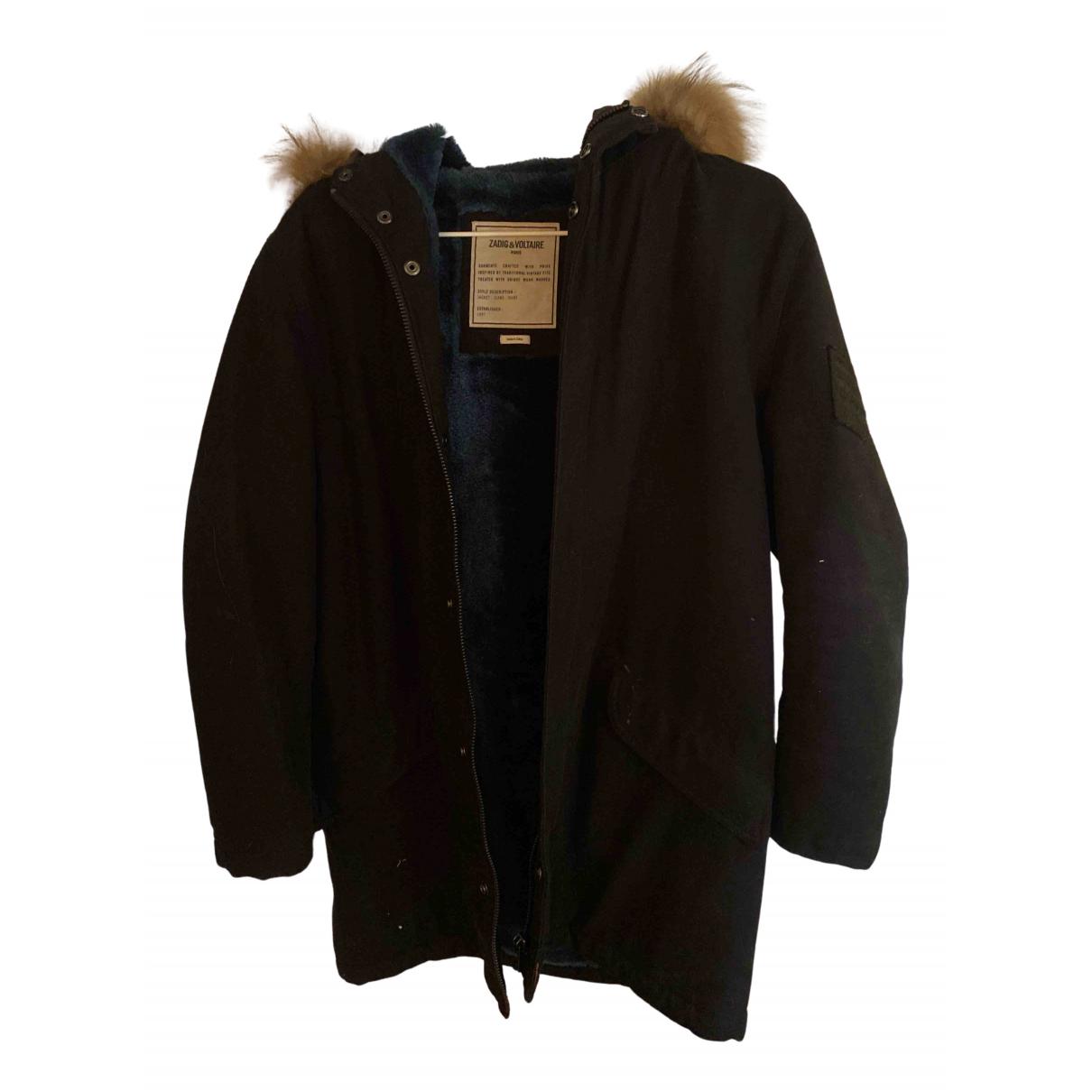 Zadig & Voltaire - Manteau   pour femme en coton - noir
