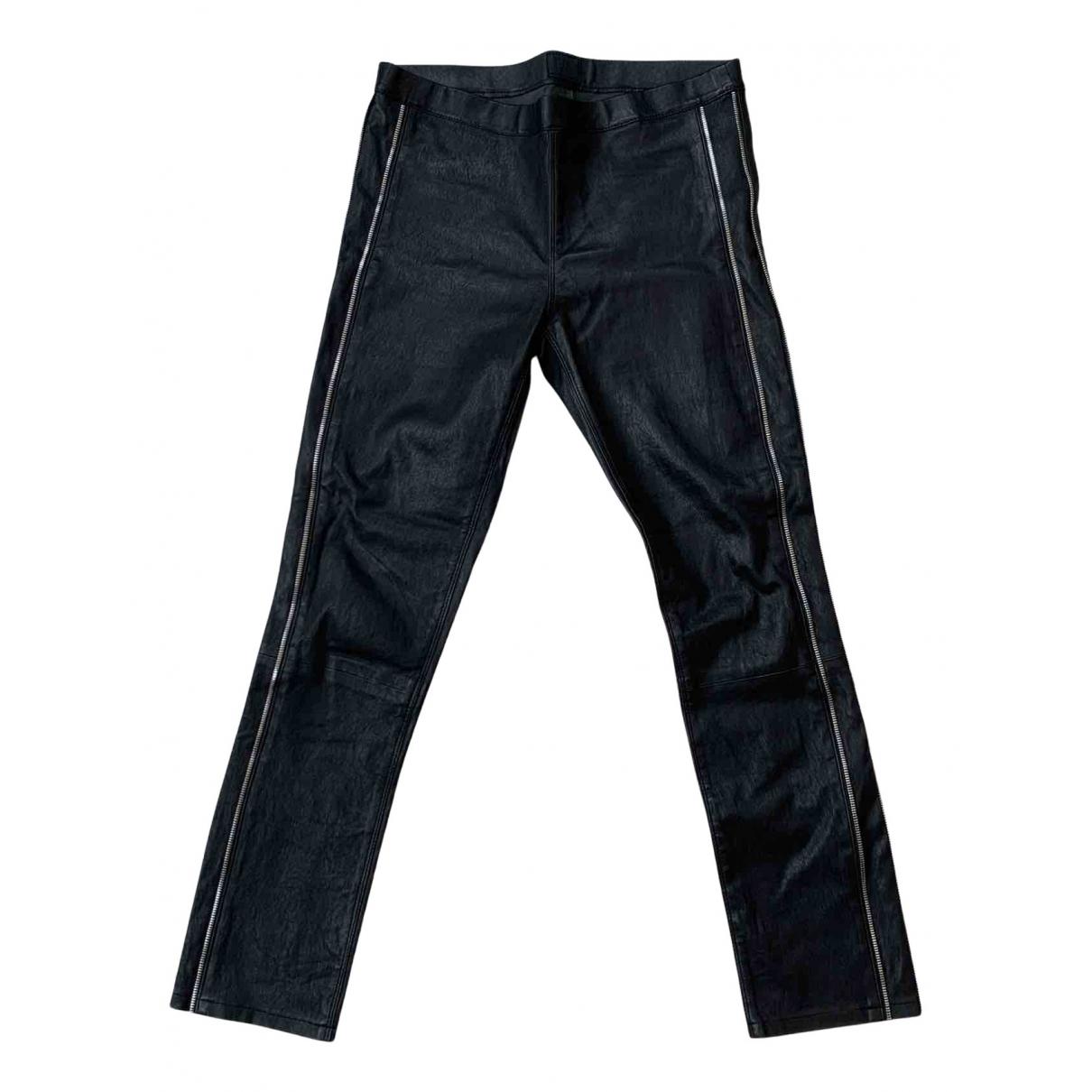 Rta N Black Leather Trousers for Women M International