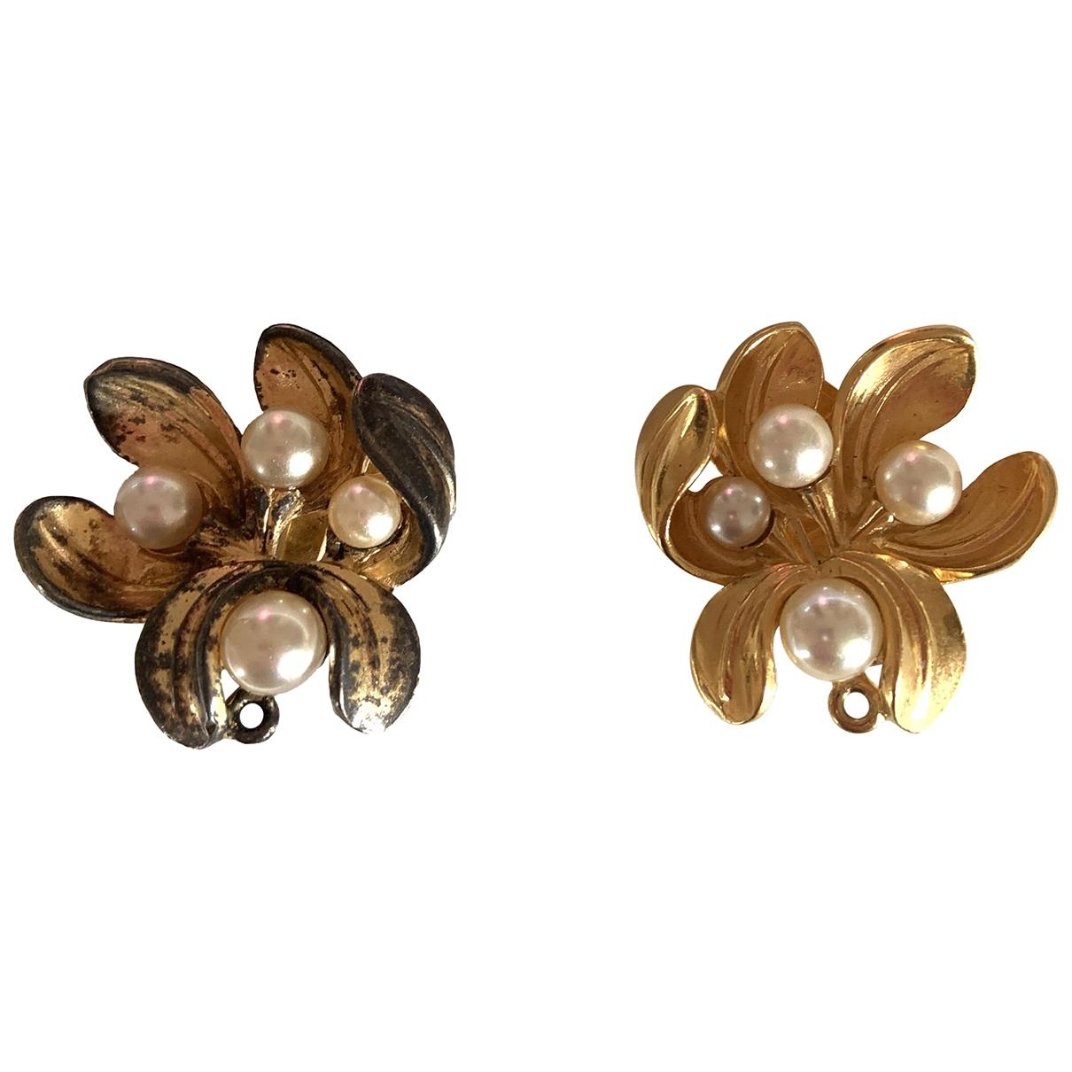 Lanvin - Boucles doreilles   pour femme en metal - dore